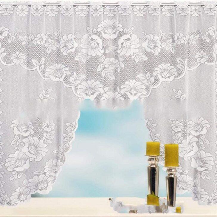 Medium Size of Küchenvorhang Garispace Blumencaf Vorhang Im Weien Eleganten Caf Wohnzimmer Küchenvorhang