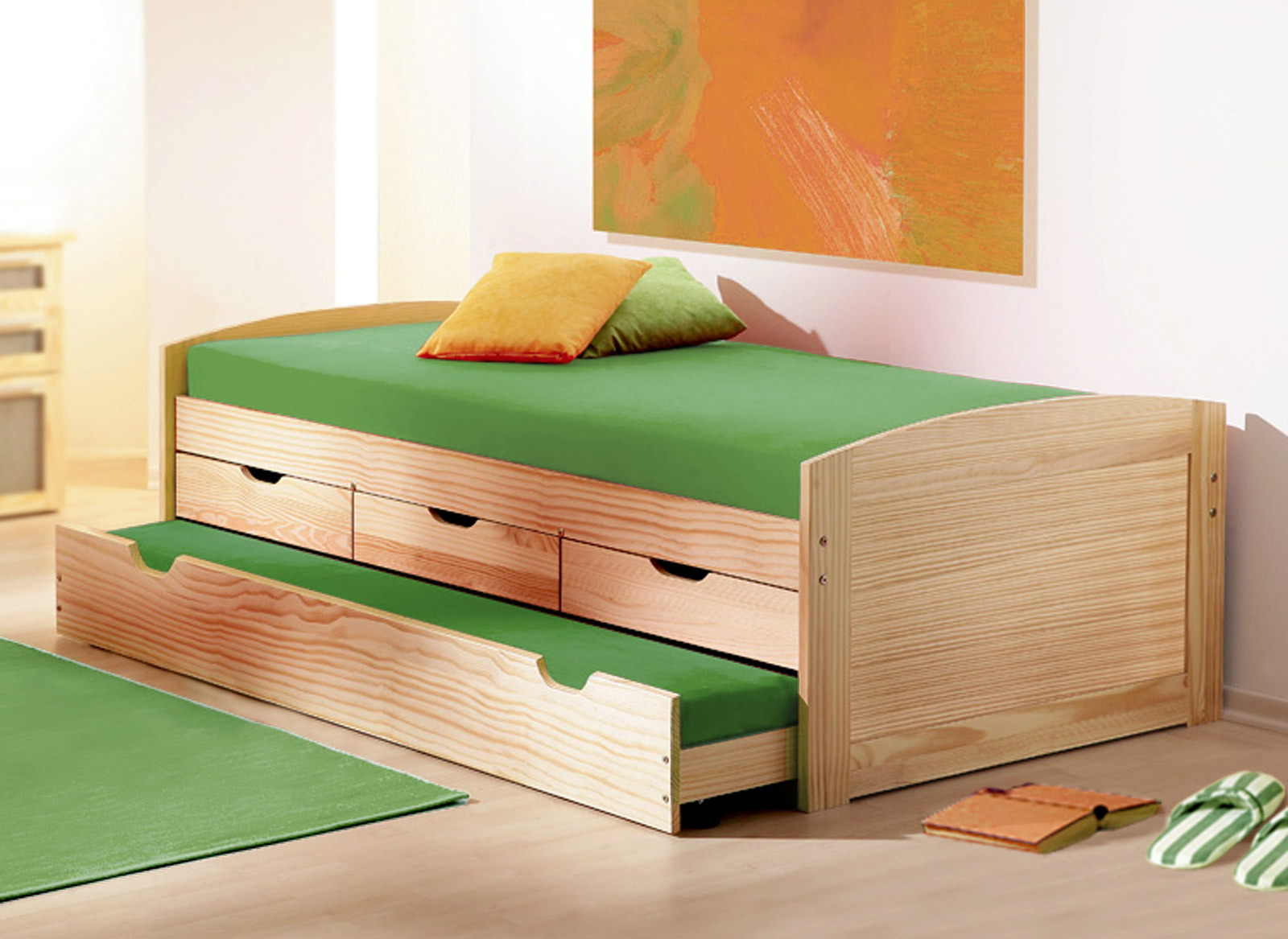 Full Size of Bett Ausziehbar Gleiche Ebene Ikea Amazon Betten 180x200 160x200 Mit Lattenrost Und Matratze Bambus 140x200 Günstig Ohne Füße Sofa Bettfunktion Weißes Wohnzimmer Bett Ausziehbar Gleiche Ebene