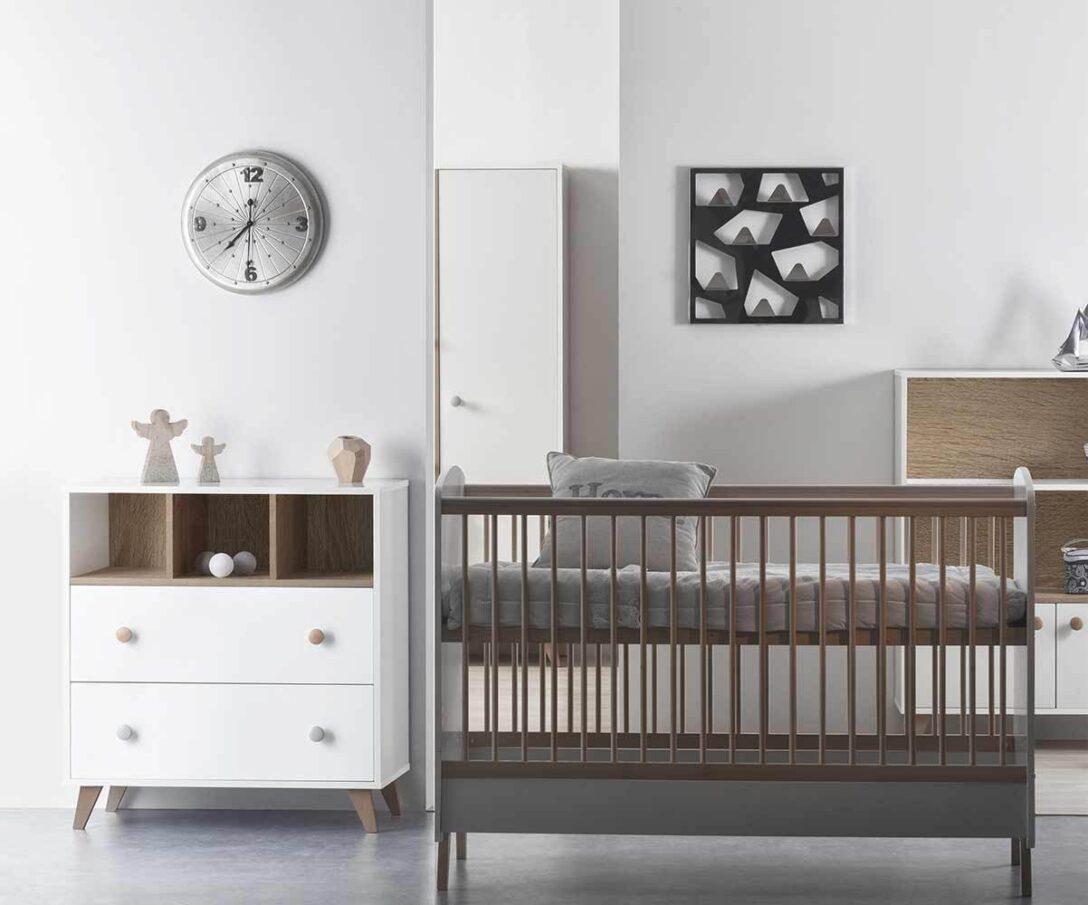 Large Size of Mini Babyzimmer Bonheur Mit Babybett Und Wickelkommode Bett 180x200 Schwarz Schwarze Küche Weiß Schwarzes Wohnzimmer Babybett Schwarz