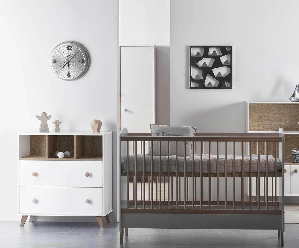 Full Size of Mini Babyzimmer Bonheur Mit Babybett Und Wickelkommode Bett 180x200 Schwarz Schwarze Küche Weiß Schwarzes Wohnzimmer Babybett Schwarz