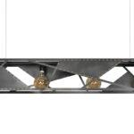 Rohstahl Deckenleuchte 150cm Lang Wohnzimmer Deckenlampe Bad Esstisch Industrial Schlafzimmer Deckenlampen Küche Für Modern Wohnzimmer Deckenlampe Industrial