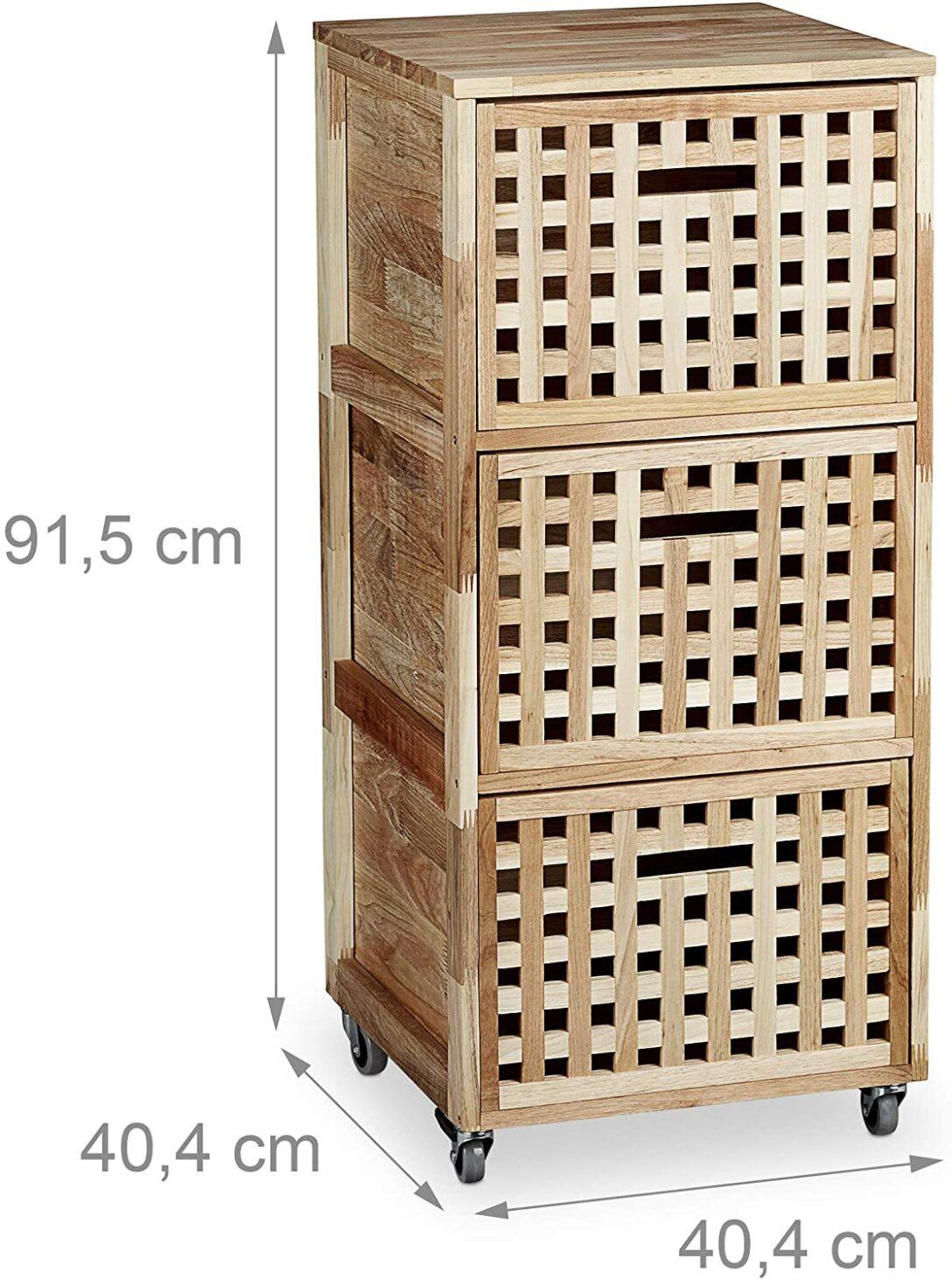 Large Size of Rollwagen Holz Rollcontainer Mit 3 Fchern Walnuss Hbt Ca 91 Altholz Esstisch Schlafzimmer Massivholz Bad Waschtisch Holzplatte Bett Betten Loungemöbel Garten Wohnzimmer Rollwagen Holz