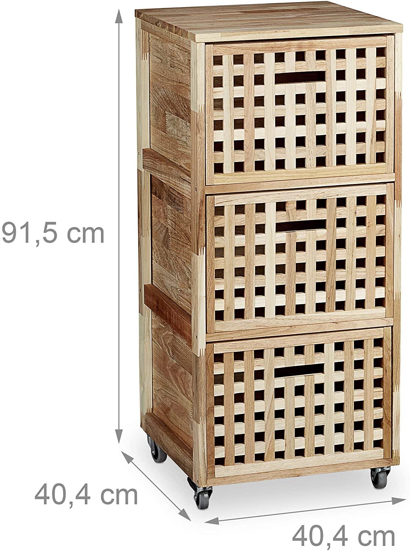 Full Size of Rollwagen Holz Rollcontainer Mit 3 Fchern Walnuss Hbt Ca 91 Altholz Esstisch Schlafzimmer Massivholz Bad Waschtisch Holzplatte Bett Betten Loungemöbel Garten Wohnzimmer Rollwagen Holz