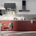 Küche Zweifarbig Colorado Grifflose Kche Mit Mattlackfronten In Rot Sonoma Eiche Schrankküche Wandtattoos Spritzschutz Plexiglas Treteimer Nobilia Wohnzimmer Küche Zweifarbig