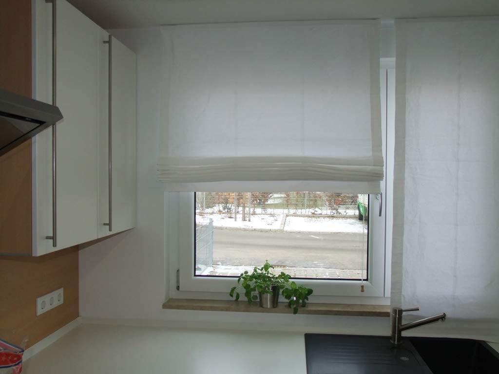Full Size of Lemos Home Raffrollo Aus 100 Baumwolle Blickdichtes Stoffrollo Küche Wohnzimmer Raffrollo Küchenfenster
