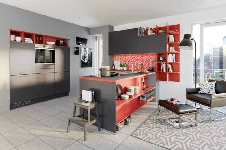 Medium Size of Ideen Fr Kchen Farbgestaltung 11 Bilder Von Farbigen Alno Küche Küchen Regal Wohnzimmer Alno Küchen