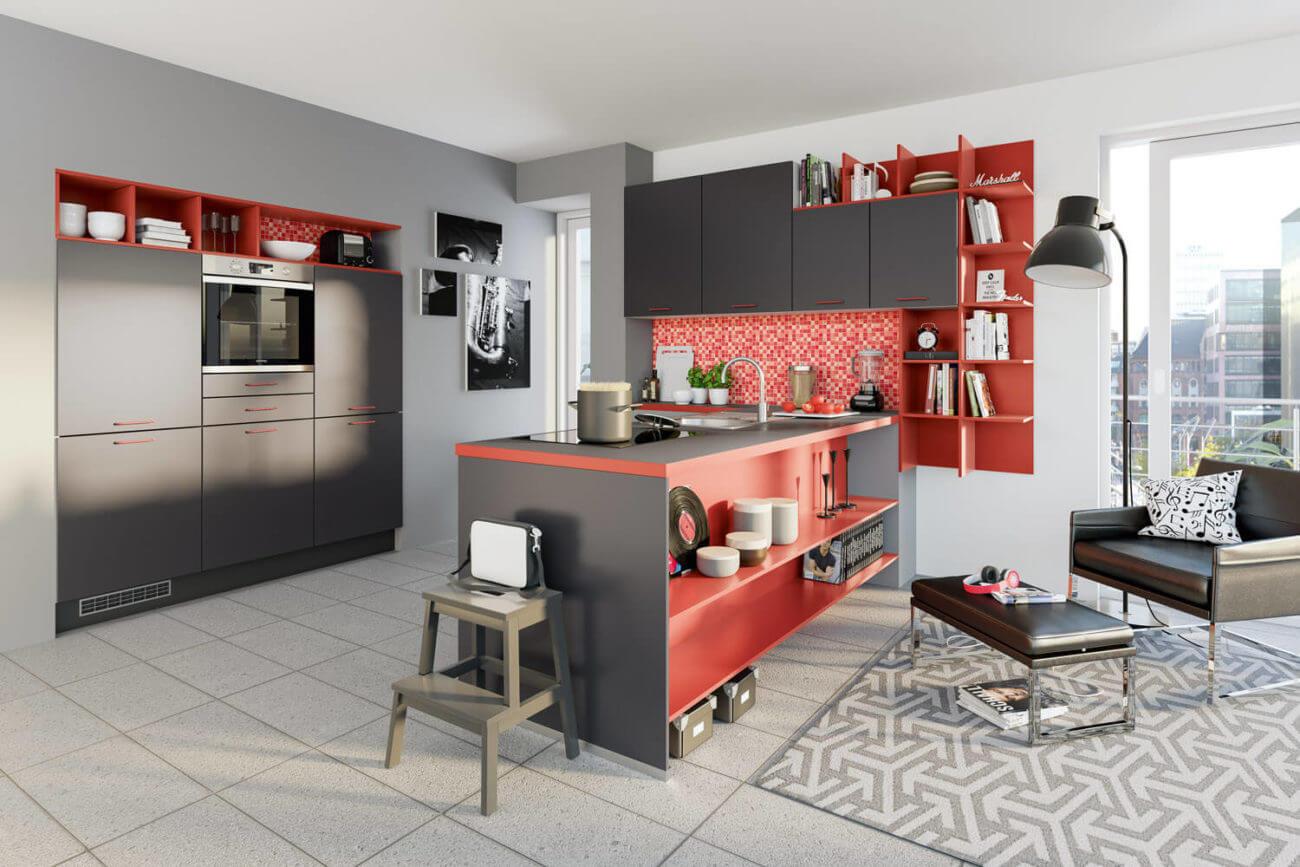 Full Size of Ideen Fr Kchen Farbgestaltung 11 Bilder Von Farbigen Alno Küche Küchen Regal Wohnzimmer Alno Küchen