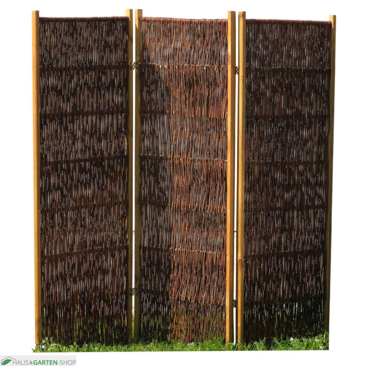 Medium Size of Paravent Bambus Balkon Sichtschutzlsung Aus Weide Haselnuss Garten Bett Wohnzimmer Paravent Bambus Balkon
