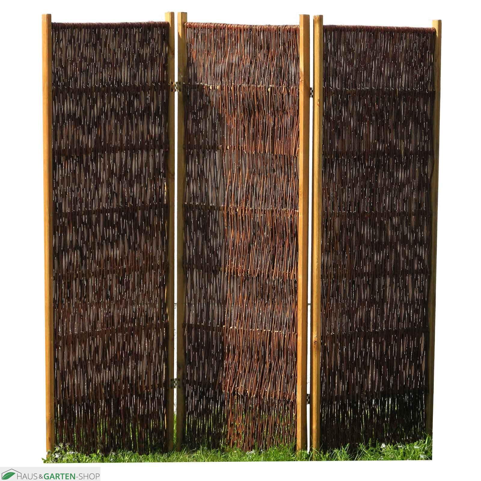 Full Size of Paravent Bambus Balkon Sichtschutzlsung Aus Weide Haselnuss Garten Bett Wohnzimmer Paravent Bambus Balkon