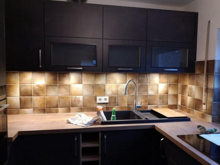 Medium Size of Fliesen Streichen Mit Kreidefarbe Misspompadour Fliesenspiegel Küche Selber Machen Glas Küchen Regal Wohnzimmer Küchen Fliesenspiegel