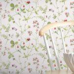 Tapete Calcada Im Natrlich Skandinavischen Stil Mit Wildblumen Landhausstil Sofa Bad Küche Schlafzimmer Bett Wohnzimmer Boxspring Weiß Esstisch Betten Regal Wohnzimmer Küchentapete Landhausstil