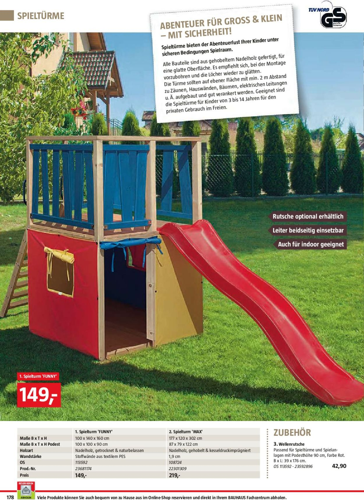 Full Size of Spielturm Bauhaus Aktueller Prospekt 2503 30062019 178 Jedewoche Garten Kinderspielturm Fenster Wohnzimmer Spielturm Bauhaus