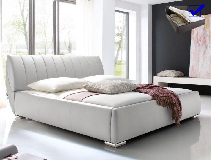 Medium Size of Polsterbett Luanos 180x200cm Wei Lattenrost Klappbar Doppelbett Ausklappbares Bett Wohnzimmer Klappbares Doppelbett