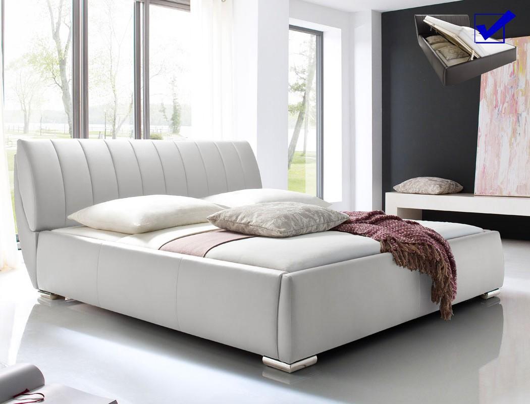 Full Size of Polsterbett Luanos 180x200cm Wei Lattenrost Klappbar Doppelbett Ausklappbares Bett Wohnzimmer Klappbares Doppelbett