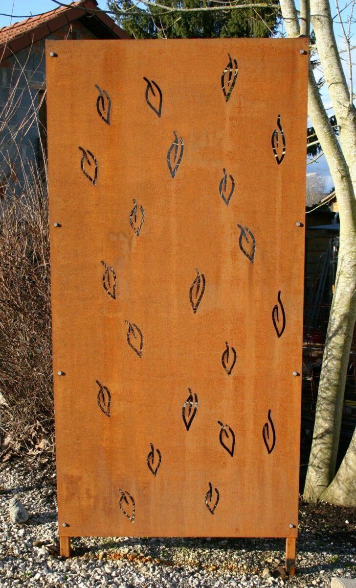 Medium Size of Sichtschutz Garten Holz Regale Metall Bett Lattenrost 140x200 Mit Matratze Und Schlafzimmer Set 90x200 Betten Sichtschutzfolie Fenster Einseitig Durchsichtig Wohnzimmer Sichtschutz Metall Rost