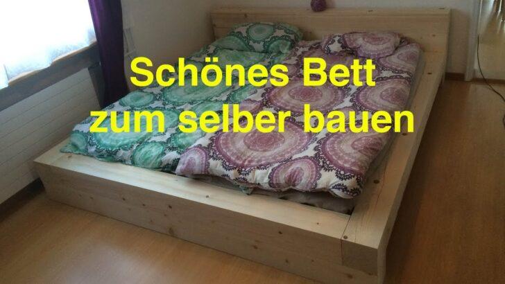 Medium Size of Ein Bett Zum Selber Bauen By Lunchvegaz Youtube Bauhaus Fenster Wohnzimmer Eichenbalken Bauhaus