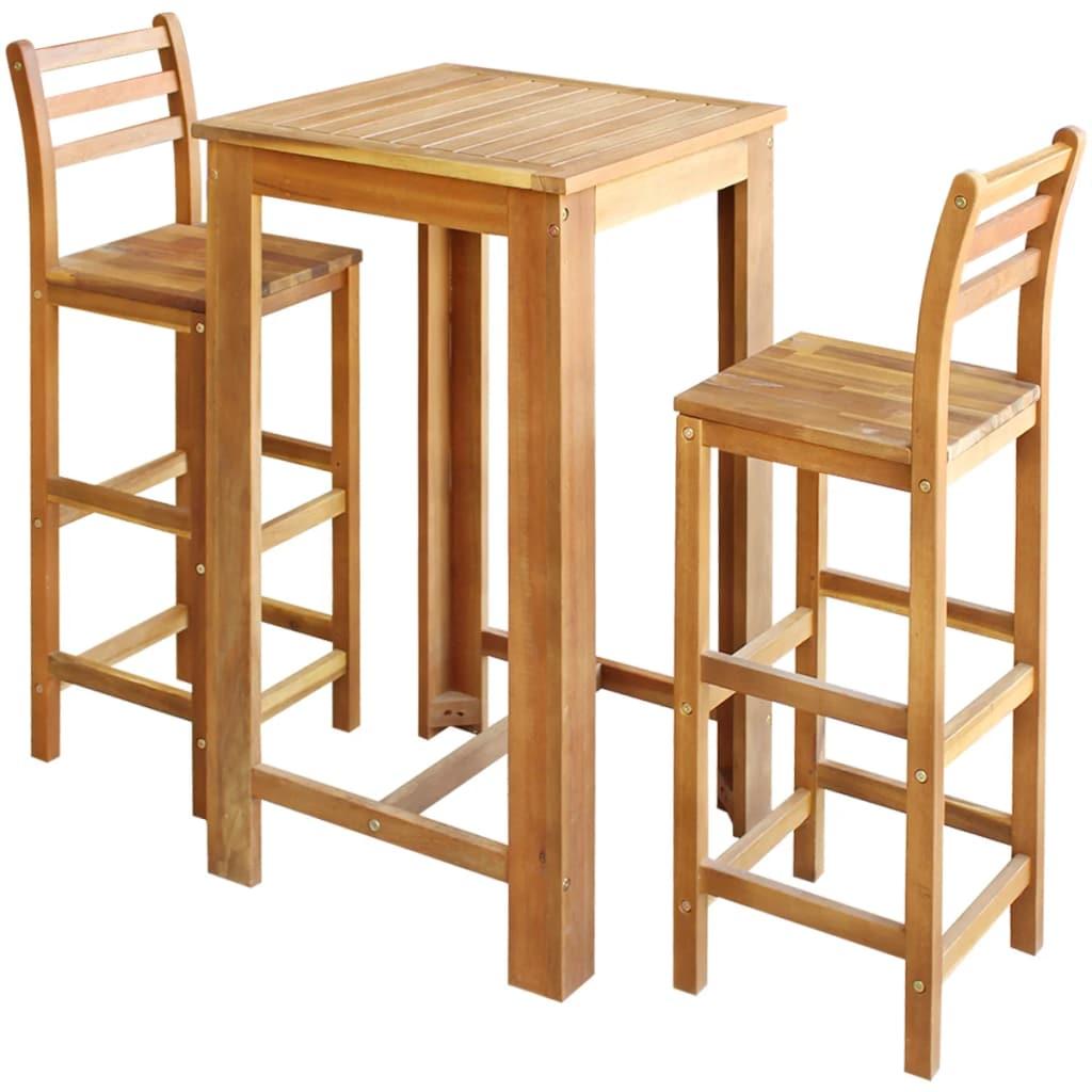 Full Size of Bartisch Set Vidaxl Und Stuhl 3 Tlg Akazienholz Massiv Gitoparts Schlafzimmer Günstig Weiß Bad Komplettset Küche Mit Matratze Lattenrost Lounge Garten Wohnzimmer Bartisch Set