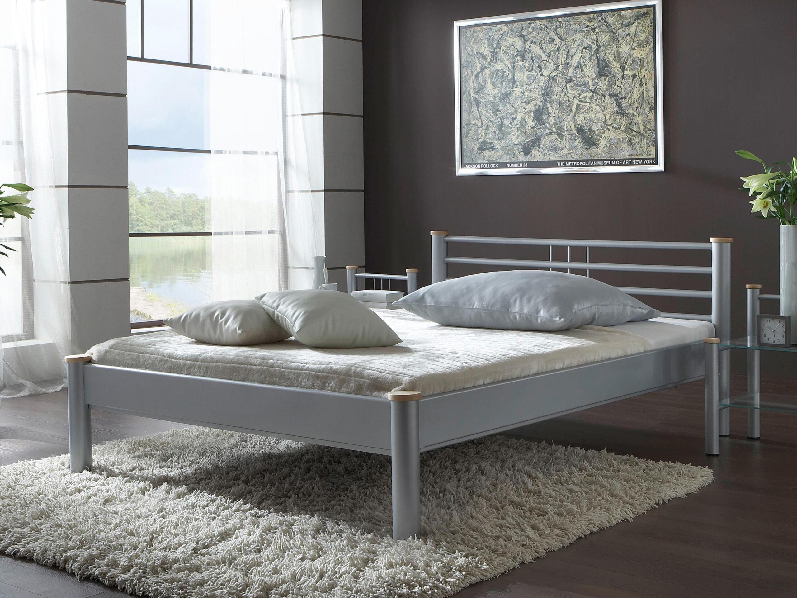 Full Size of Metallbett 100x200 Schlichter Christina Bett Weiß Betten Wohnzimmer Metallbett 100x200