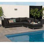 Couch Terrasse Exotan Casablanca Lounge Sessel Schwarz Outdoor Garten Wohnzimmer Couch Terrasse