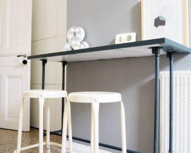 Küche Bartisch Wohnzimmer Küche Bartisch Diy Aus Installationsrohren Ausstellungsküche Gebrauchte Kaufen Erweitern Grifflose Buche Apothekerschrank Vorhang Wandtattoos Planen Küchen