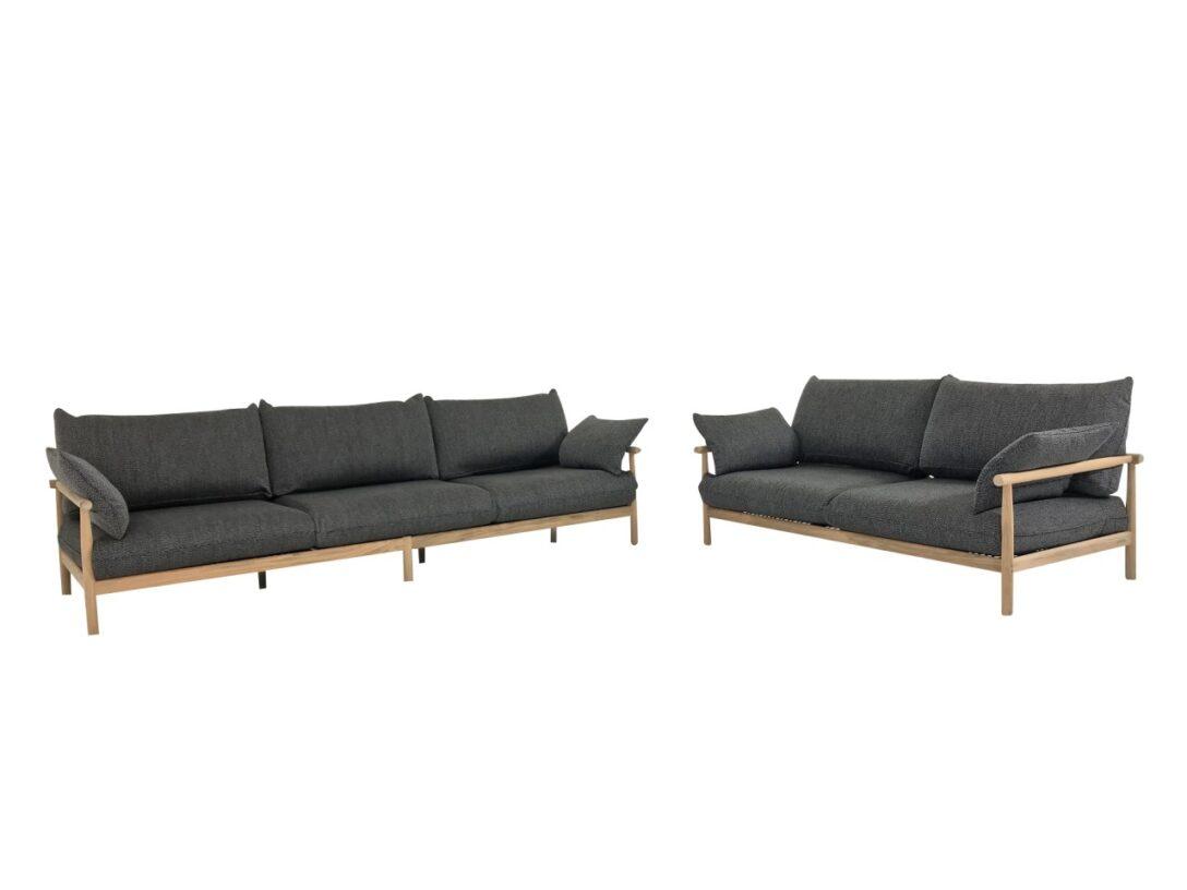 Large Size of Couch Terrasse Dedon Tibbo Sofa 3 Und 2 Fr Garten In Teak Mit Wohnzimmer Couch Terrasse
