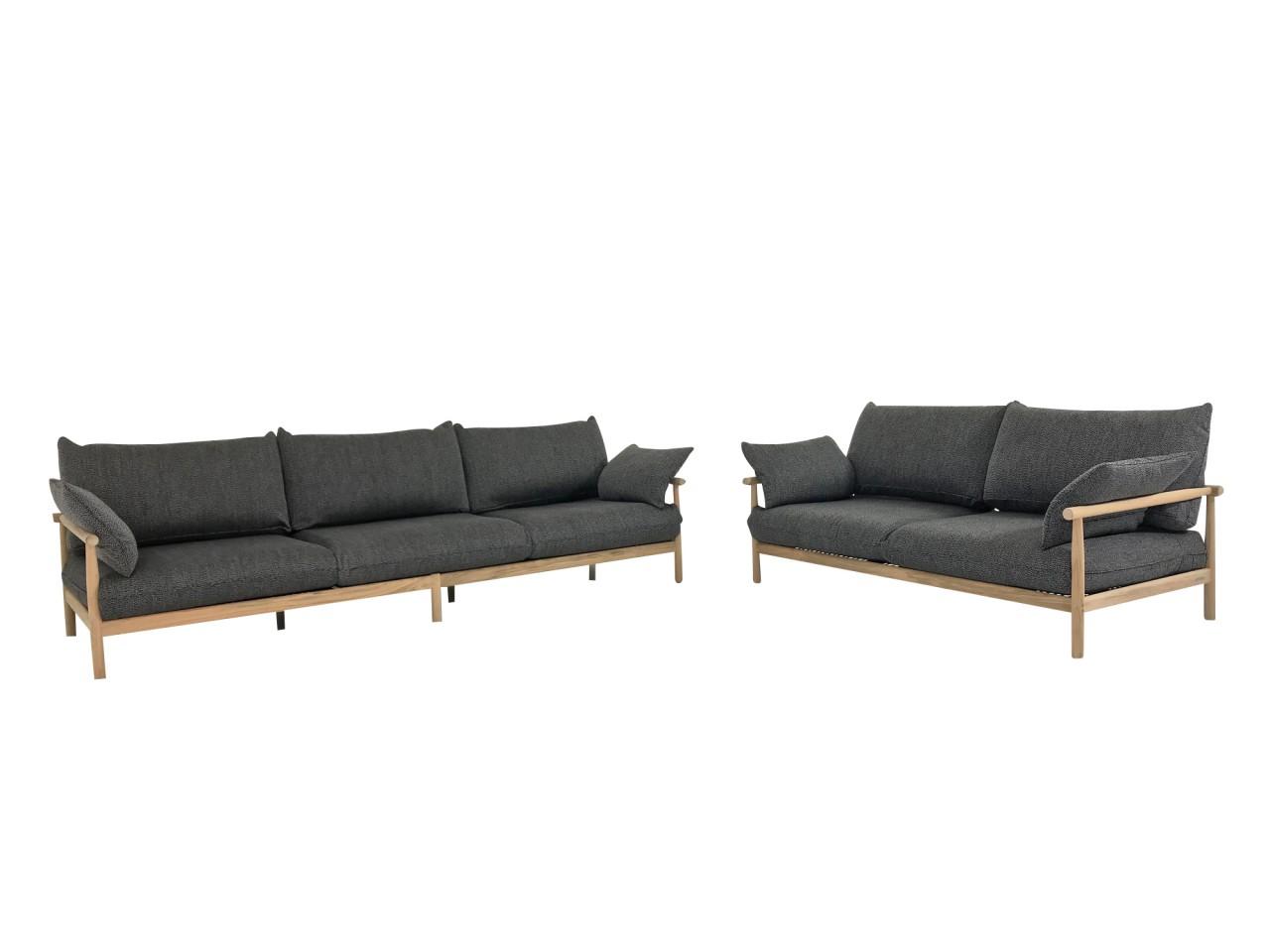 Full Size of Couch Terrasse Dedon Tibbo Sofa 3 Und 2 Fr Garten In Teak Mit Wohnzimmer Couch Terrasse