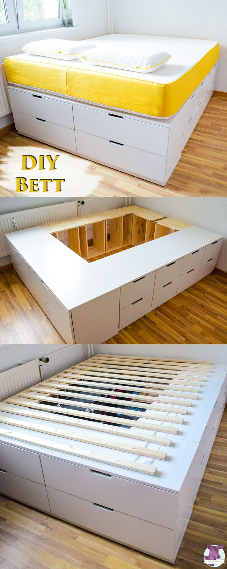 Medium Size of Diy Ikea Hack Plattform Bett Selber Bauen Aus Kommoden Massiv 180x200 Podest Günstiges Mit Stauraum Hunde Bopita Ruf Betten Preise 140x200 Weiß Funktions Wohnzimmer Stauraum Bett 120x200 Ikea