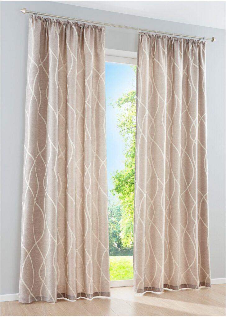 Medium Size of Blickdichter Vorhang Mit Moderner Jacquard Musterung Sand Vorhänge Küche Schlafzimmer Wohnzimmer Wohnzimmer Vorhänge