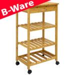 Küchenwagen Schmal Wohnzimmer B Ware Bambus Kchenwagen 50x37x85 Servierwagen Holz Rollwagen Regal Schmal Schmales Küche Schmale Regale