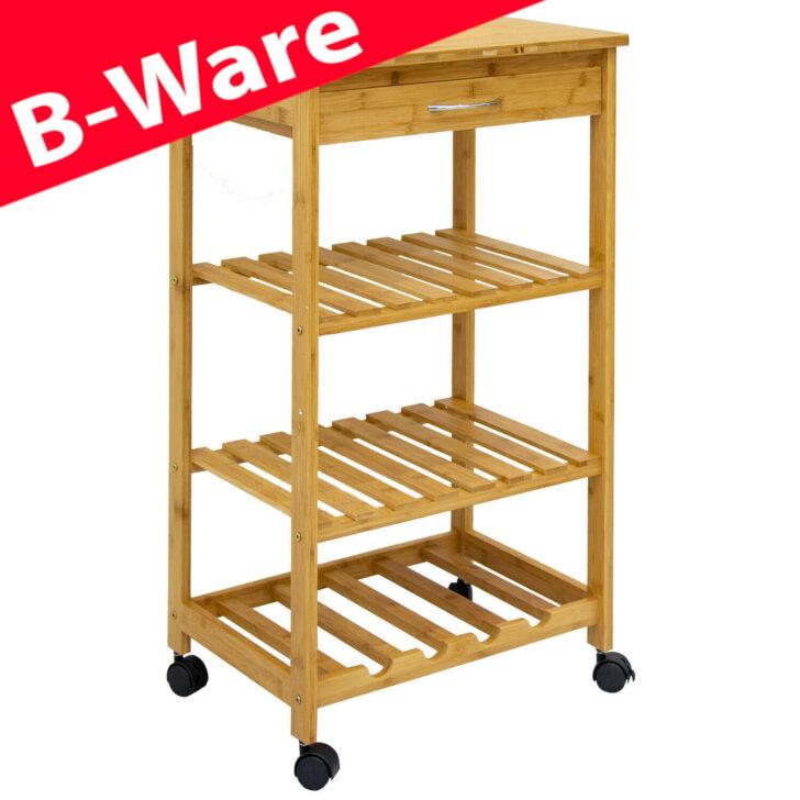 Medium Size of B Ware Bambus Kchenwagen 50x37x85 Servierwagen Holz Rollwagen Regal Schmal Schmales Küche Schmale Regale Wohnzimmer Küchenwagen Schmal