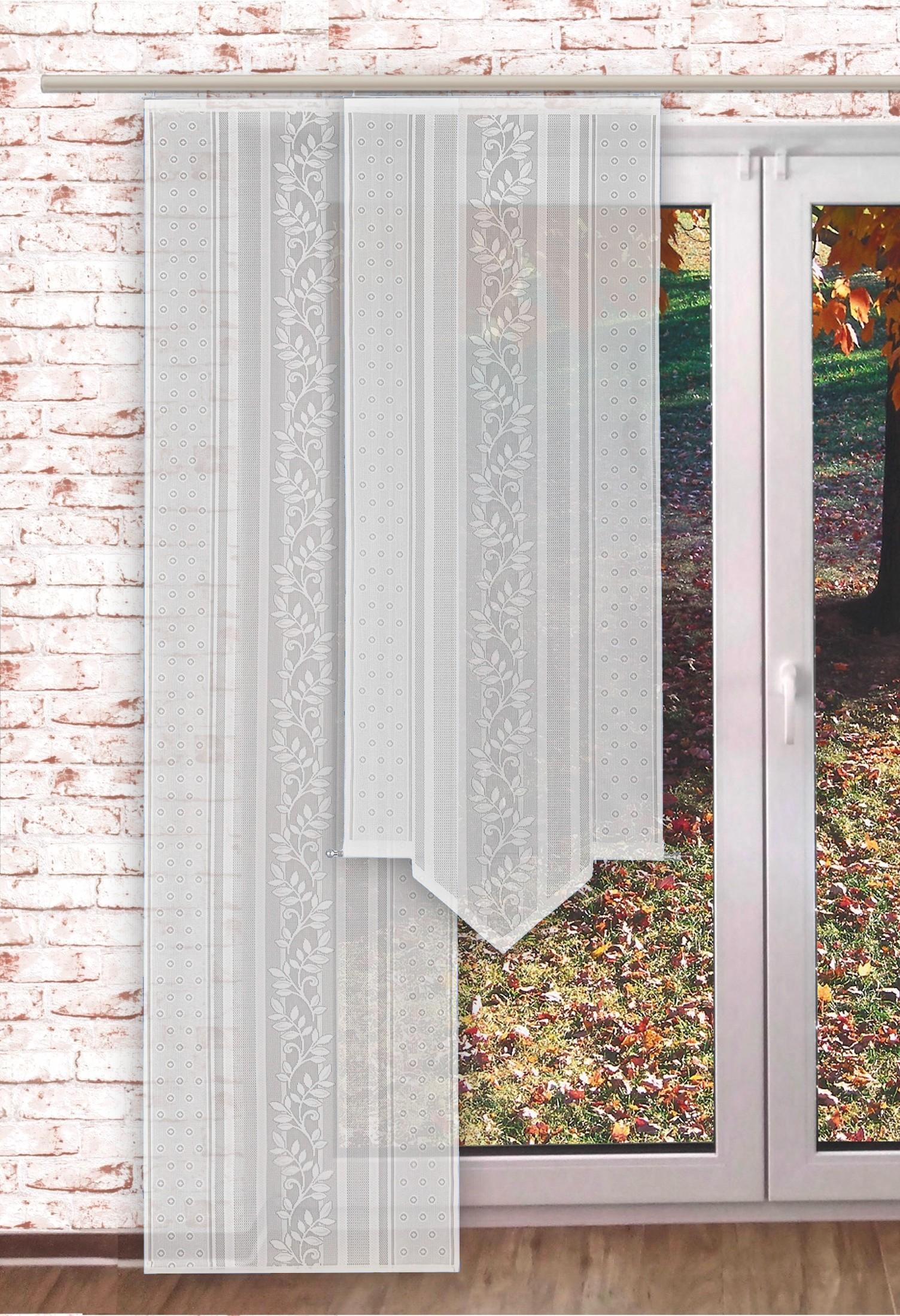 Full Size of Scheibengardinen Balkontür Gardinen Welt Online Shop Transparente Schiebegardine Blattranke Küche Wohnzimmer Scheibengardinen Balkontür