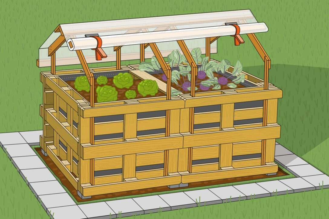 Large Size of Zaun Paletten Hochbeet Aus Anlegen Anleitung Von Hornbach Regale Europaletten Regal Garten Bett 140x200 Kaufen Wohnzimmer Zaun Paletten