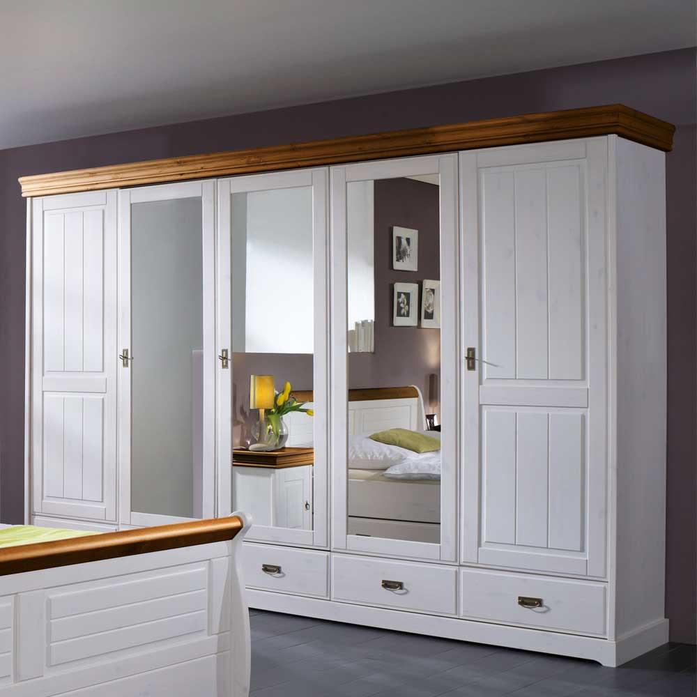 Full Size of Schlafzimmerschränke Schlafzimmerschrank Scots Im Landhausstil Pharao24de Wohnzimmer Schlafzimmerschränke