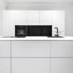 Küche Zweifarbig Wohnzimmer Küche Ohne Geräte Lüftung Oberschränke Betonoptik Inselküche Arbeitsplatte Led Beleuchtung Bodenbelag L Form Modulare Fliesenspiegel Glas Holzofen