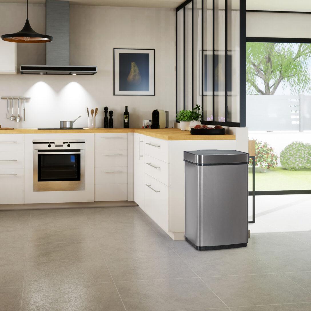 Large Size of Sensor Mlleimer 60l Abfalleimer Kchenmlleimer Abfallbehlter Wohnzimmer Küchenabfalleimer