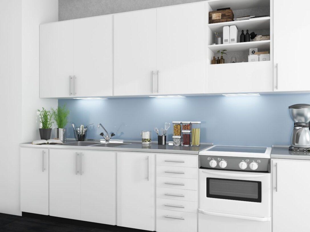 Large Size of Küche Blau Grau Rckwand Aus Glas In Kaufen Spiegel Deutschland Led Deckenleuchte Edelstahlküche Erweitern Finanzieren Wandbelag Hängeschrank Mit Wohnzimmer Küche Blau Grau
