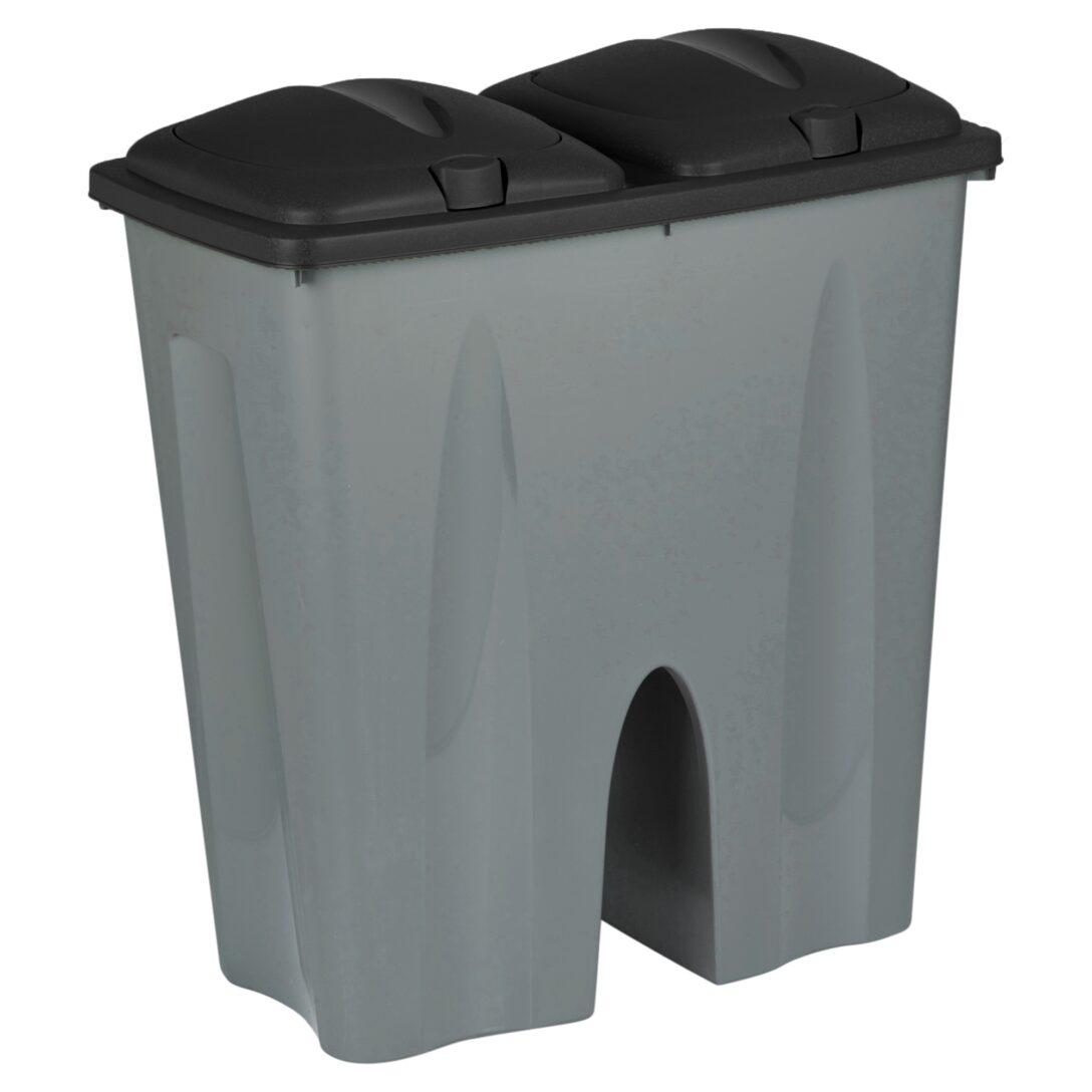 Large Size of Doppel Mülleimer Schwarz Recycling Abfall Duo Mlleimer Plastik Mll Küche Doppelblock Einbau Wohnzimmer Doppel Mülleimer