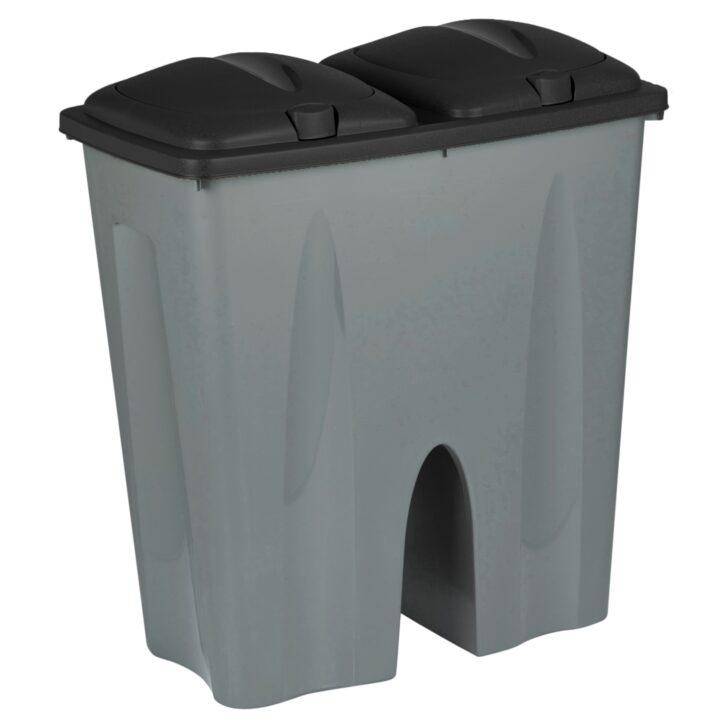 Medium Size of Doppel Mülleimer Schwarz Recycling Abfall Duo Mlleimer Plastik Mll Küche Doppelblock Einbau Wohnzimmer Doppel Mülleimer