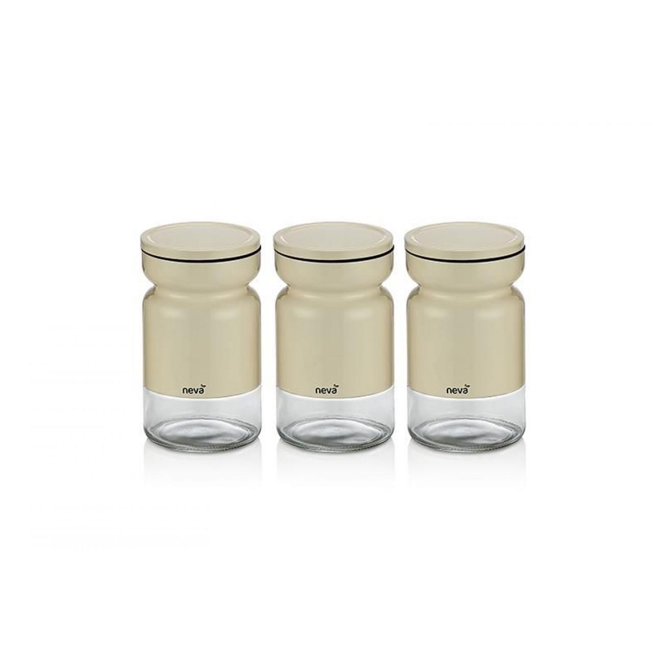 Full Size of Aufbewahrungsbehälter Sweet Serie Creme Serieneva 3 Tlg Küche Wohnzimmer Aufbewahrungsbehälter