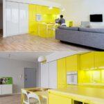 Kcheneinrichtung In Gelb Anwendungsanleitungen Vollholzküche Massivholzküche Holzküche Wohnzimmer Holzküche Auffrischen