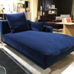 Grozgige Recamiere In Blauem Samt Sofa Couch Trend Mbel Mit Wohnzimmer Recamiere Samt