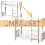 Halbhohes Hochbett Oliver Furniture Umbauset Wood Mini Zum Bett Wohnzimmer Halbhohes Hochbett