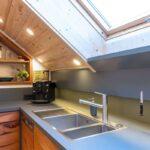 Küche Dachgeschoss Eine Exklusive Kche Im Schreinerei Haas Buche Weiße Vinylboden Eckküche Mit Elektrogeräten Günstig Wandtattoo Einbauküche Gebraucht Wohnzimmer Küche Dachgeschoss