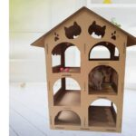 Klettergerüst Indoor Diy Xmkatze Haus Recyclebar Karton Montiert Multi Layer Large Garten Wohnzimmer Klettergerüst Indoor Diy