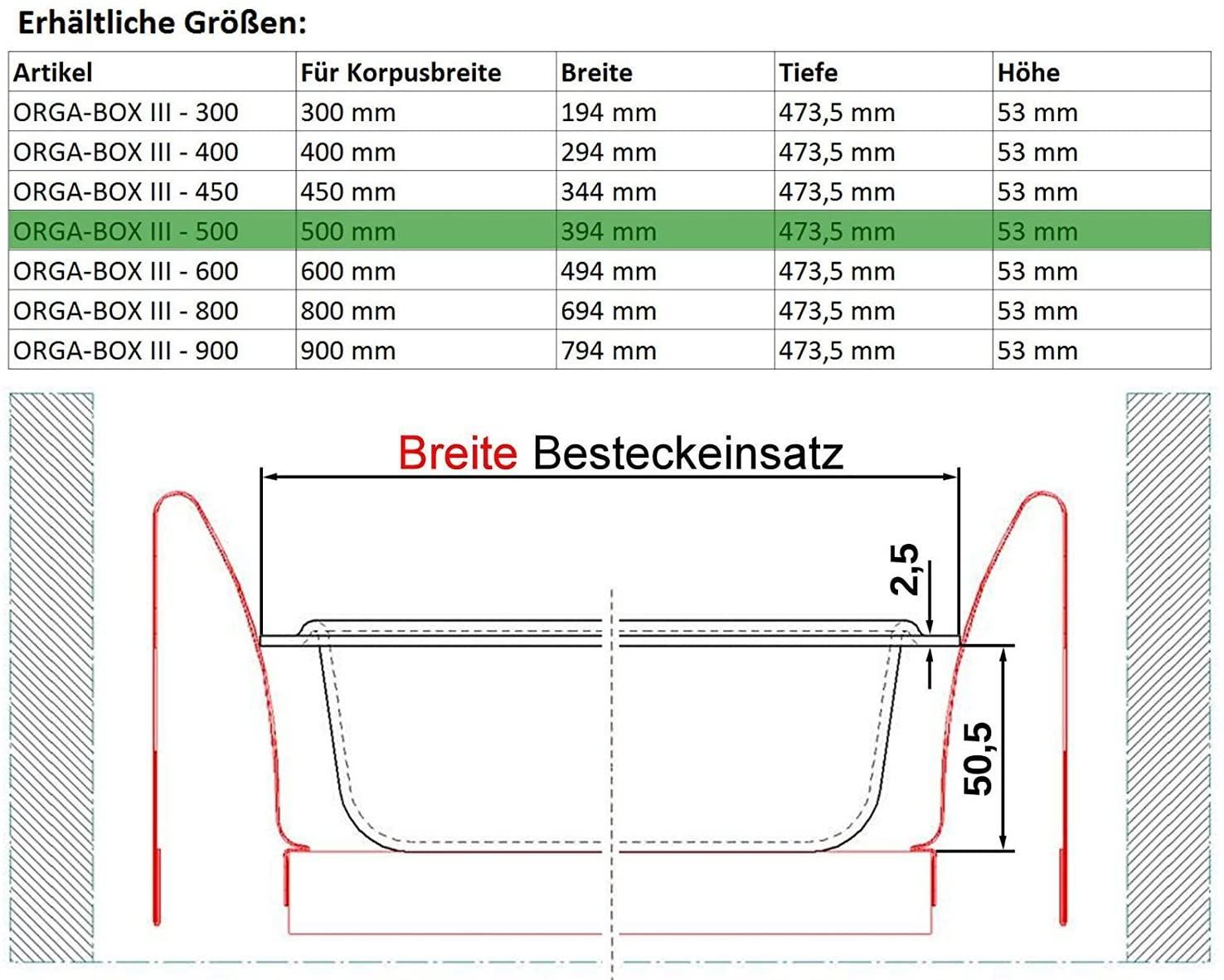 Full Size of Nobilia Besteckeinsatz 80 Trend 120 Holz 100 60 Cm 40 Orga Bobesteckeinsatz Silbergrau Fr 50er Schublade Zb Küche Einbauküche Wohnzimmer Nobilia Besteckeinsatz