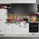 Küche Zweifarbig Edelstahlküche Einbauküche Mit Elektrogeräten Modulküche Fliesen Für Aufbewahrungsbehälter Deckenleuchte Industrielook Kaufen Ikea Wohnzimmer Küche Zweifarbig