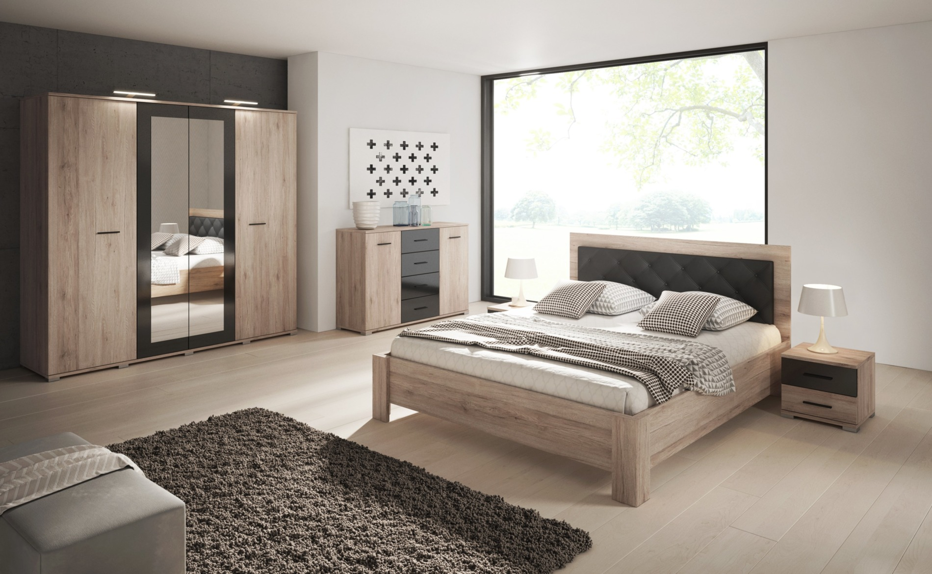 Full Size of Schlafzimmerschränke Kleiderschrank Schlafzimmerschrank Bari Spiegel Schwarz Hochglanz Wohnzimmer Schlafzimmerschränke