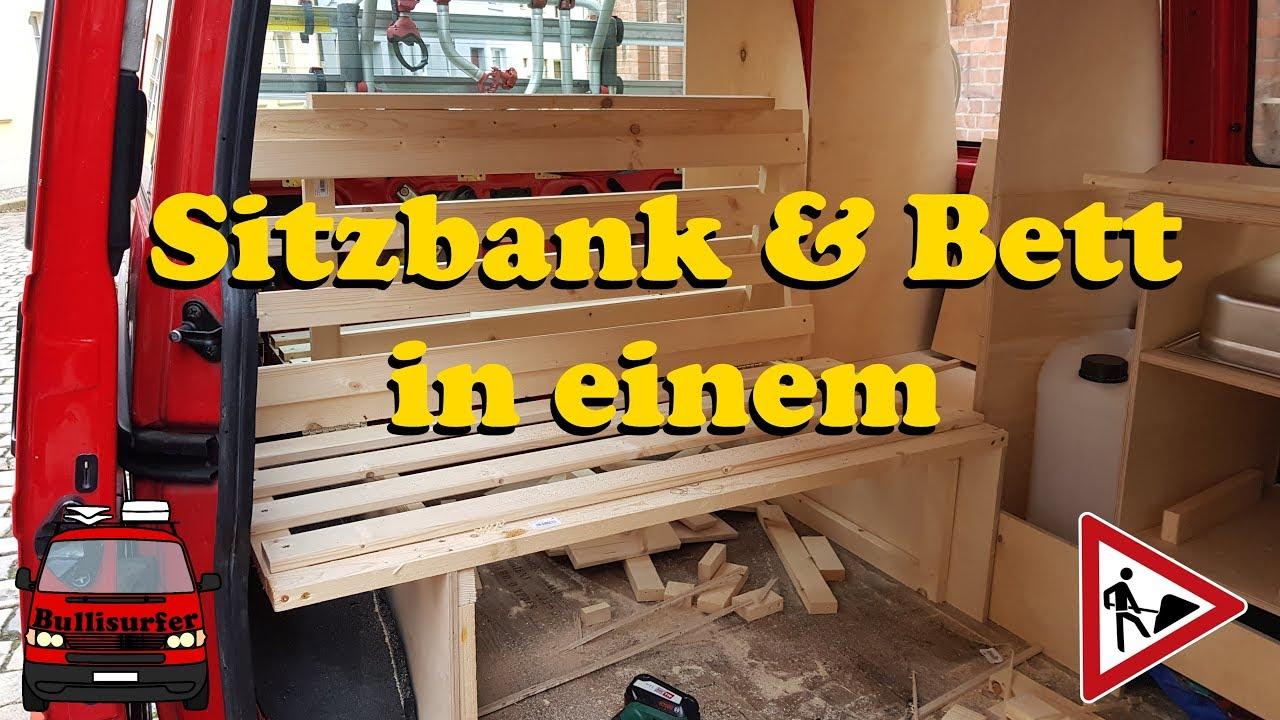 Full Size of Ausziehbett Camper Mein Klappbett Fr Den Bulli Vw T4 Ausbau Zum 20 05 Bett Mit Wohnzimmer Ausziehbett Camper