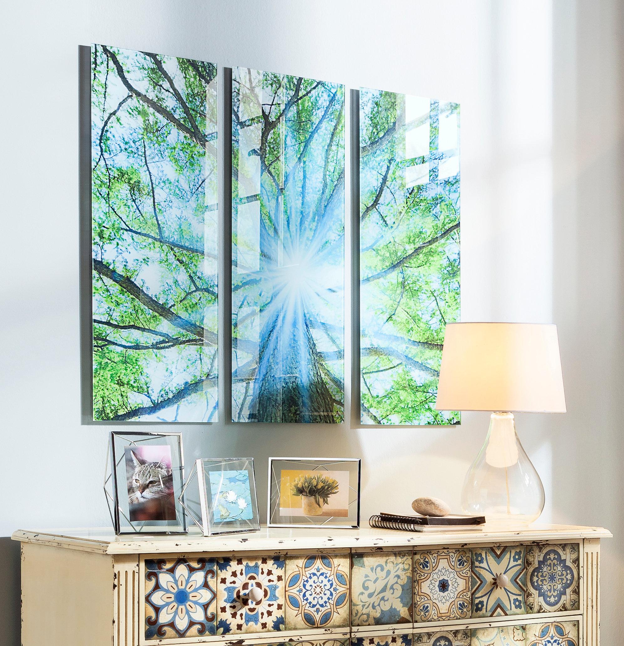 Full Size of Glasbild 120x50 Triptychon Baum Glasbilder Küche Bad Wohnzimmer Glasbild 120x50
