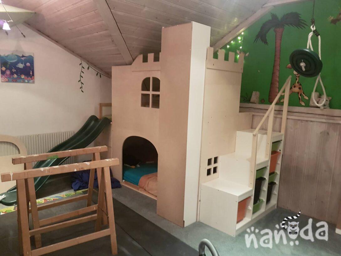 Large Size of Kura Hack Ikea Bunk Bed Instructions Montessori House Storage Ideas 2 Beds Drawers Underneath Hacks Pinterest Nanodas Kreative Welt Eine Eigene Ritterburg Im Wohnzimmer Kura Hack